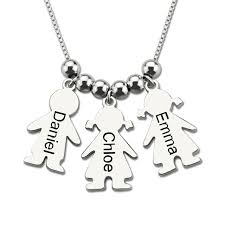 silver necklace name charms images Wholesale sterling silver necklace personalized engraved name jpg