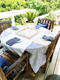 Patio Tablecloth by Spring Outdoor Entertaining Island Inspired Table
