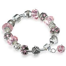 glass bead bracelet charms images A te charm bracelet crystal glass beads chain snake jpg