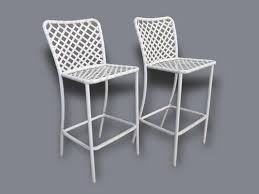 Vintage Brown Jordan Outdoor Furniture pair of mid century brown jordan patio bar stools outdoor cliff