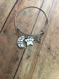 Personalized Bangle Bracelets Butterfly Charm Stamped Star I Love You To The Moon And Back
