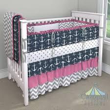 Solid Pink Crib Bedding Pink Nautical Crib Set Baby And Nursery Furnitures