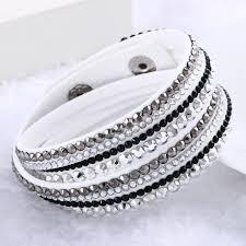 rhinestone leather wrap bracelet images Fashion rhinestone leather wrap bracelet jpg