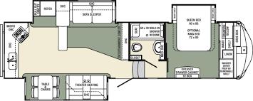 Fifth Wheel Camper Floor Plans Two Bedroom Fifth Wheel 44 Foot Fifth Wheel 4 Slide Outs 2 Exit