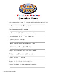 baby shower question printable patriotic family feud question sheet patriotic