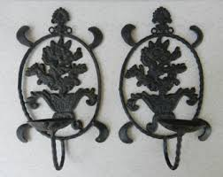 Cast Iron Wall Sconce Iron Wall Sconce Etsy