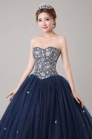aliexpress com buy ball gowns long 2016 navy blue quinceanera