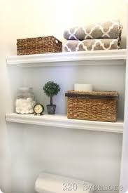Small Bathroom Shelf Ideas Building A Floating Shelf In Your Toilet Cove Toilet Shelves