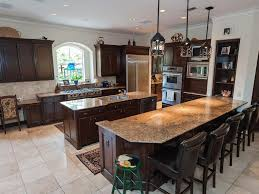daun curry contemporary kitchen design with double kitchen islands in