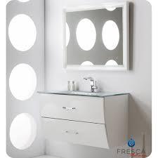 40 In Bathroom Vanity by Wave 40 Inch Glossy White Modern Bathroom Vanity Wall Mounted