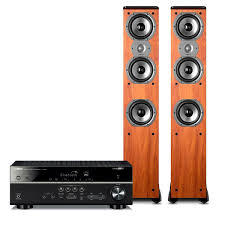 home theater system with receiver yamaha rx v483 5 1 channel av network receiver with polk tsi400 4