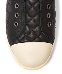 ugg jemma sale lyst ugg black quilted leather jemma trainers in black