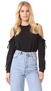 shoulder tops maven west cold shoulder top shopbop