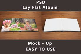 up photo album lay flat album mock up product mockups creative market