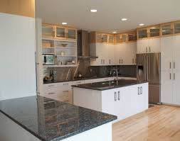 granite countertop stained glass kitchen cabinets backsplash at
