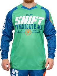 green motocross gear shift blue green 2016 strike mx jersey shift freestylextreme