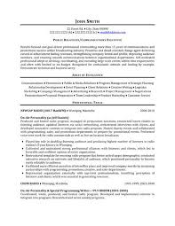 Best Executive Resume Samples by Public Relations Resume Template
