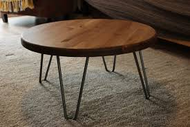 round hairpin coffee table round hairpin table legs beblincanto tables vintage hairpin