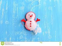 how to make a christmas felt snowman ornament step stuff the