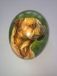 ostrich egg painted artist original painted dog design decorated ostrich egg ebay