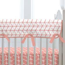 light coral arrow crib rail cover carousel designs