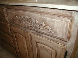 Painted Bathroom Cabinets by Project Transforming Builder Grade Cabinets To Old World Ascp