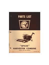 cockshutt sp 431 harvester combine parts list flynn u0027s tractor