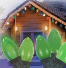 Retro Christmas Lights by 25 Ceramic Style Opaque Green Led Retro Style C7 Christmas Lights