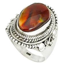 fire rings jewelry images Natural multi color mexican fire agate 925 silver ring jewelry JPG