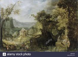 Landscape With Houses by Wooded Landscape By Anton Mirou 1608 Flemish Painting Oil On