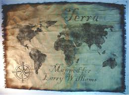 World Map Wall Decor World Map Wall Art Made Of Worn Out Burlap Painted By Hand