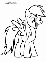 mlp coloring pages rainbow dash coloring home