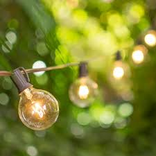 globe string lights brown wire globe string lights 2 inch e12 bulbs 100 foot brown wire c7 strand clear