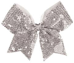 sequin ribbon chassé sequin performance hair bow omni cheer