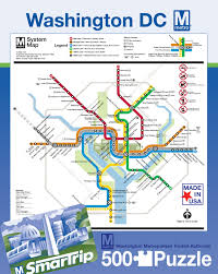 Metro Rail Dc Map by Dc Metro Map Puzzle Politics And Prose Bookstore And Coffeehouse