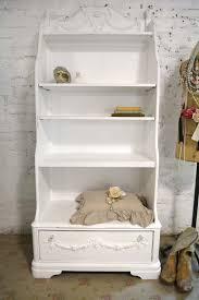 painted cottage chic shabby romantic french bookcase bookshelf