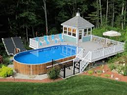 Above Ground Pool Landscaping Ideas Above Ground Pool Deck Ideas Custom Above Ground Swimming Pool