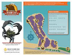 San Francisco Pier Map by Pier 39 Treasure Hunt Brochure On Behance