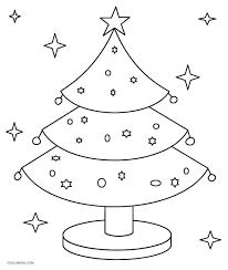 Printable Christmas Tree Coloring Pages For Kids Cool2bkids Tree Coloring Pages Ornaments