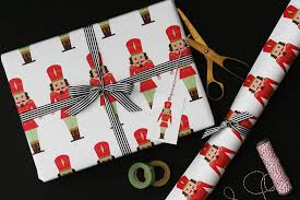 luxury christmas wrapping paper nutcracker christmas wrapping paper by nancy betty studio