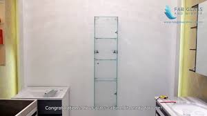 Mirror Wall Cabinet Fab Glass And Mirror Wall Mounted Glass Cabinets Locker Fgm L