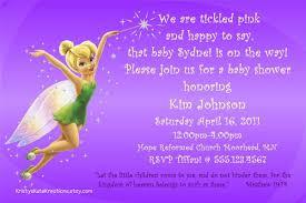 disney u0027s tinkerbell u0026 fairy baby shower invitation or