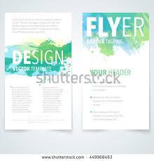 abstract vector brochure watercolor template flyer imagem vetorial