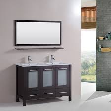 Double Vanity Cabinet 48 Inch Bathroom Solid Wood Double Vanity Cabinet With Top In