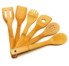 Organic Kitchen Utensils - amazon com wooden spoon utensil set 6 bamboo spoons and