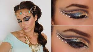 Exotic Theme Exotic Makeup Tutorial Inspired By Jasmine Aladdin Arabian Nights