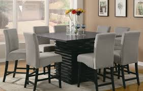 dining room glamorous black high back dining room chairs