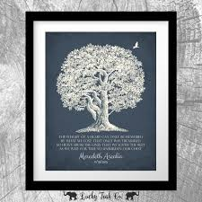 personalized in memory of gifts personalized memorial oak tree in loving memory poem sympathy