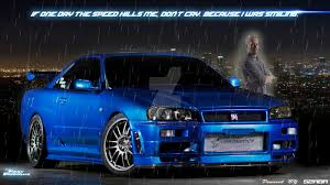 nissan skyline r34 paul walker tribute to paul walker by szaba18 on deviantart