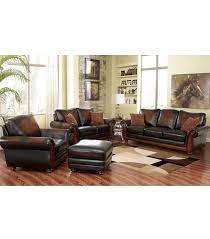 Leather Livingroom Furniture Living Room Sets Bridgeville 4 Piece Leather Set